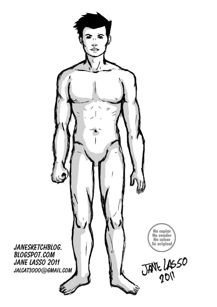 Cuerpo de hombre desnudo estilo comic americano