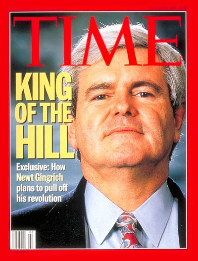 newt gingrich man of the year time. Gingrich
