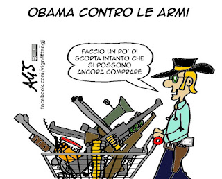 armi, obama, vignetta satira