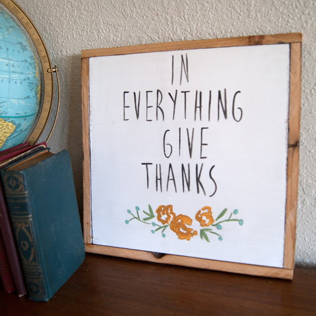 Averie Lane Boutique - In Everything Give Thanks  - reclaimed wood, vintage books, mason jar