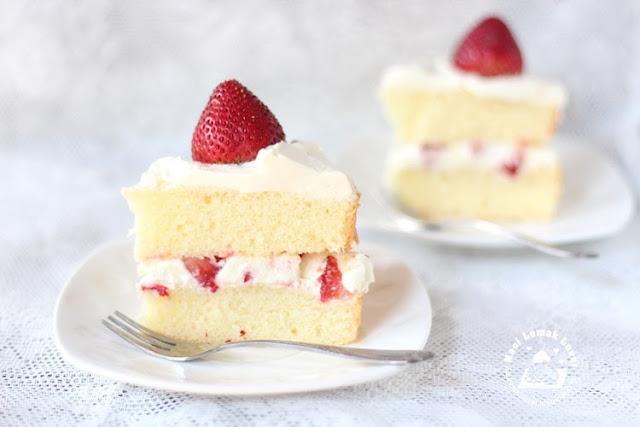 Japanese Strawberry Sponge Cake Recipe Liddels Milk