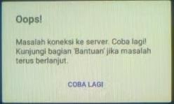 Koneksi Data Error