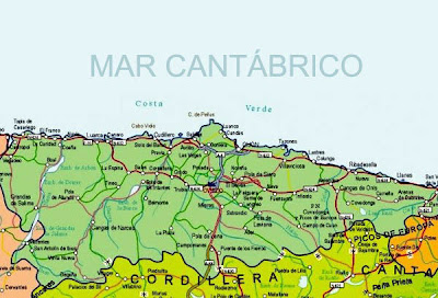 Mapa de Asturias Imagen