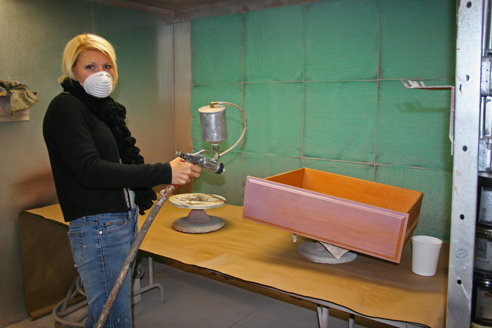 finishing acts getting your spray on working on a project. Black Bedroom Furniture Sets. Home Design Ideas