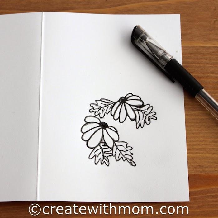create with mom washi tape birthday card, Birthday card