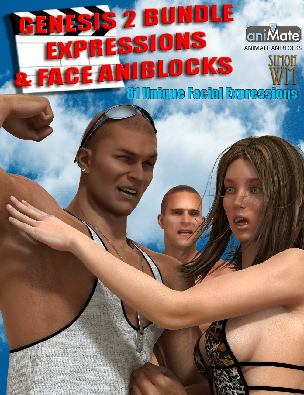 3d Models - Genesis 2 Bundle Expressions & Face aniBlocks
