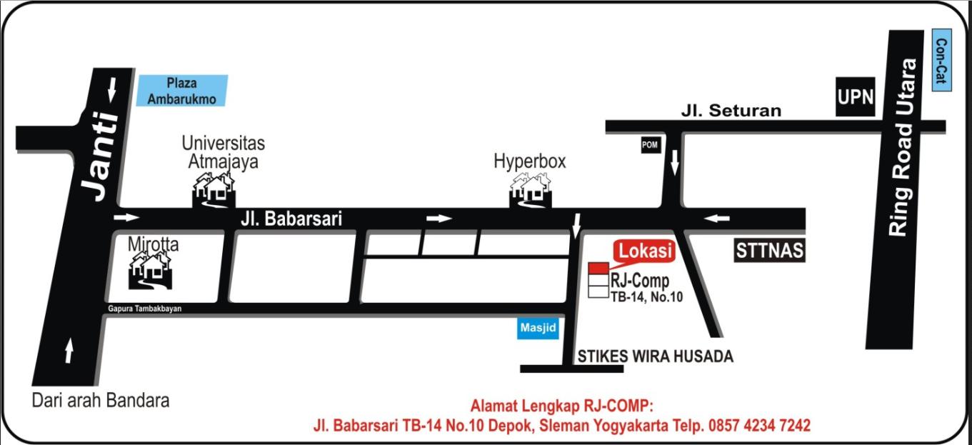 Peta lokasi kantor kami :