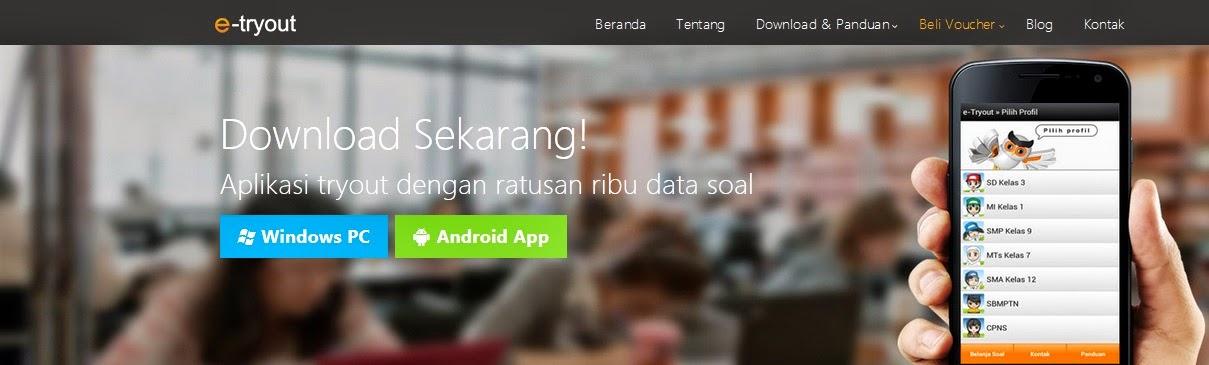 aplikasi e-tryout, ujian, smartphone