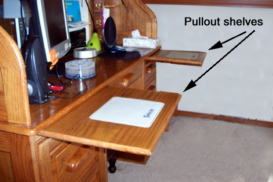 Howdy ya dewit pullout desk shelves you can make for Small pull out desk