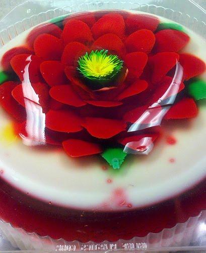 Zakka life flowers made of jello