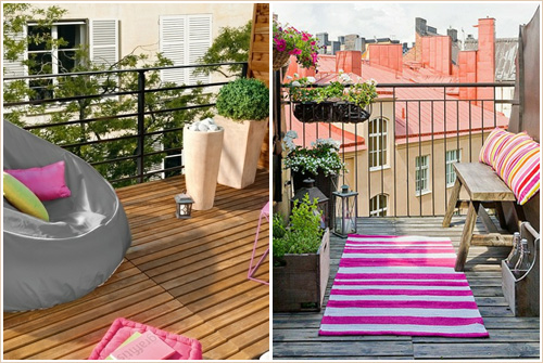 D co am nagement du balcon d coration et ameublement for Deco balcon pas cher