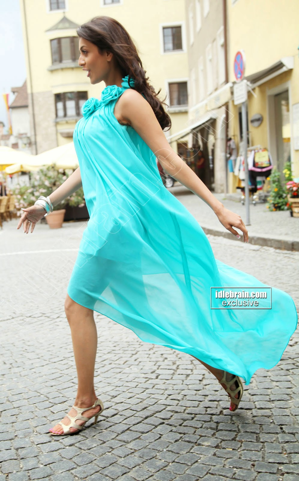 kajal agarwal sky blue dress