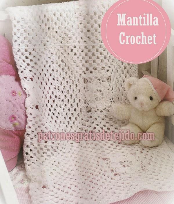 Cómo tejer mantilla crochet muy fácil | Crochet y Dos agujas ...