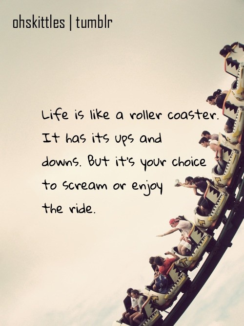 Riding a Rollercoaster vs. Loving Somebody