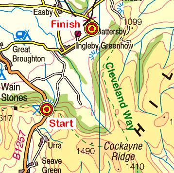 Map of the Clay Bank to Battersby area
