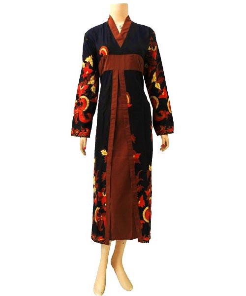 Dress Gamis Batik Dbg156  Butik Batik Solo