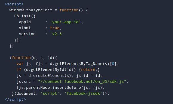 Установка Facebook SDK для JavaScript