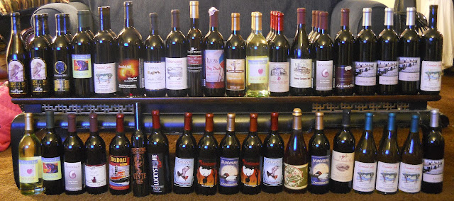 A table full of New York Finger Lakes Wine