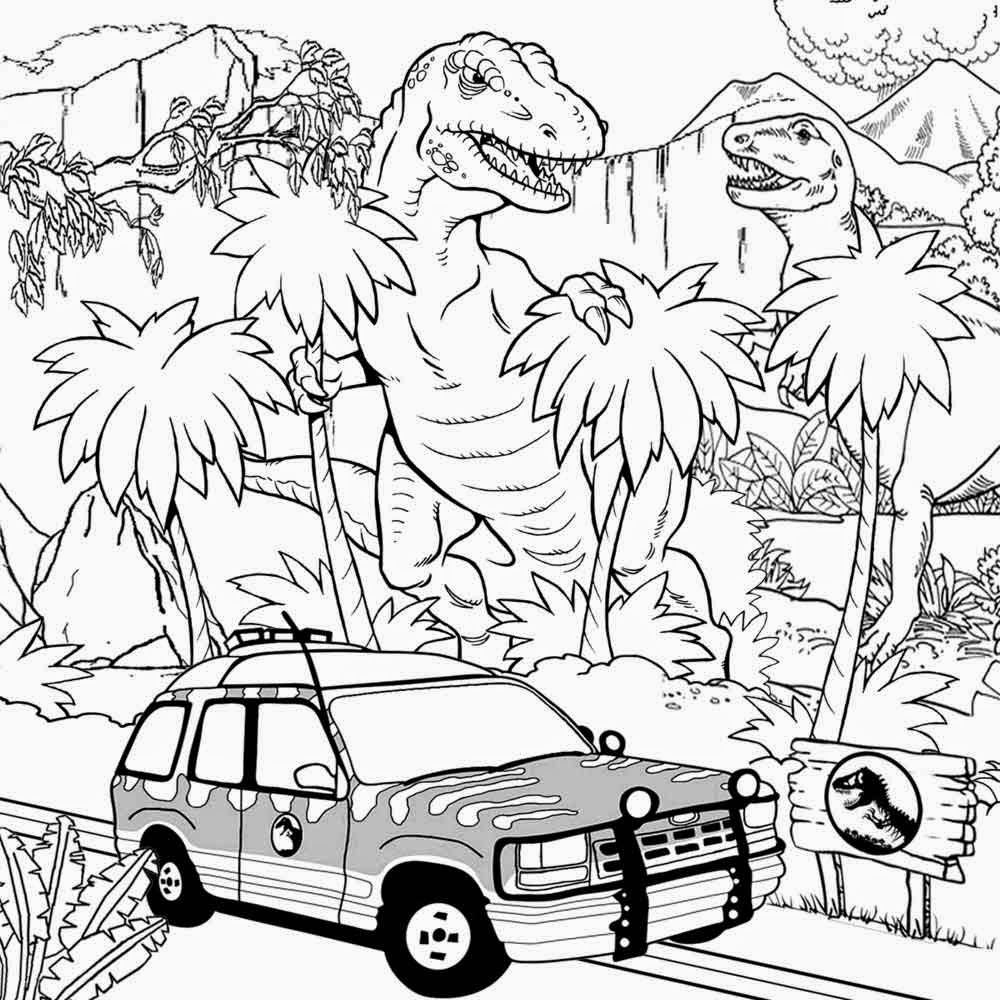 Real looking dinosaur coloring pages - Free Pintable Big Dinosaur T Rex Jurassic Park Coloring Pages Adults Realistic Super Hard Colouring