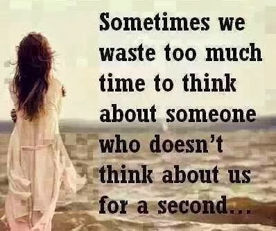 Sometimes we waste too much time