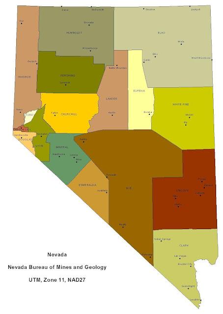 Nevada County Map Area