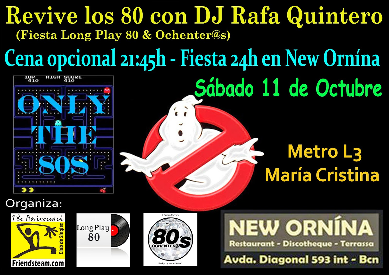 Flyer Fiesta Revive los 80 11/10/2014
