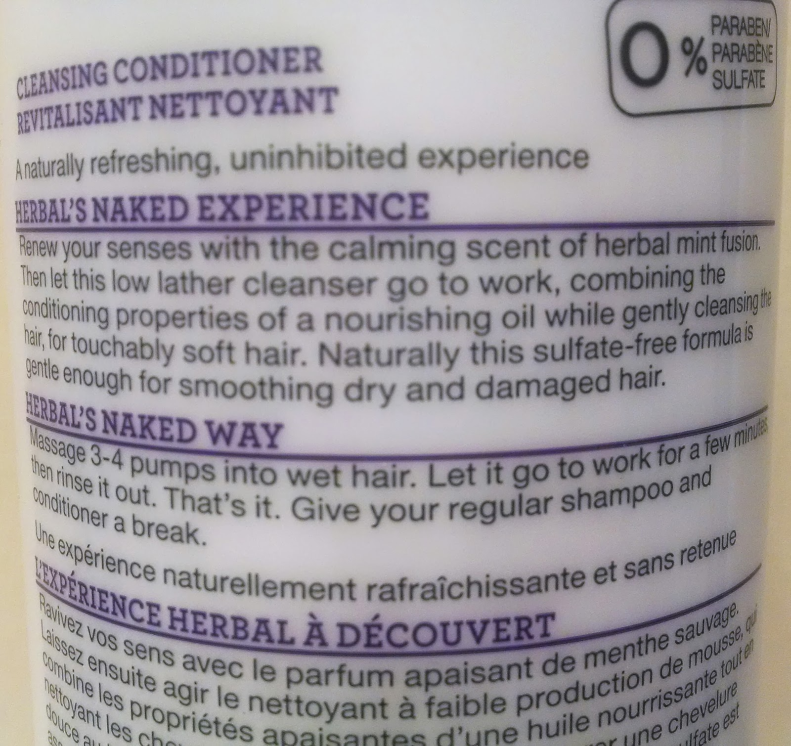 Herbal Essences Naked Cleansing Conditioner Review