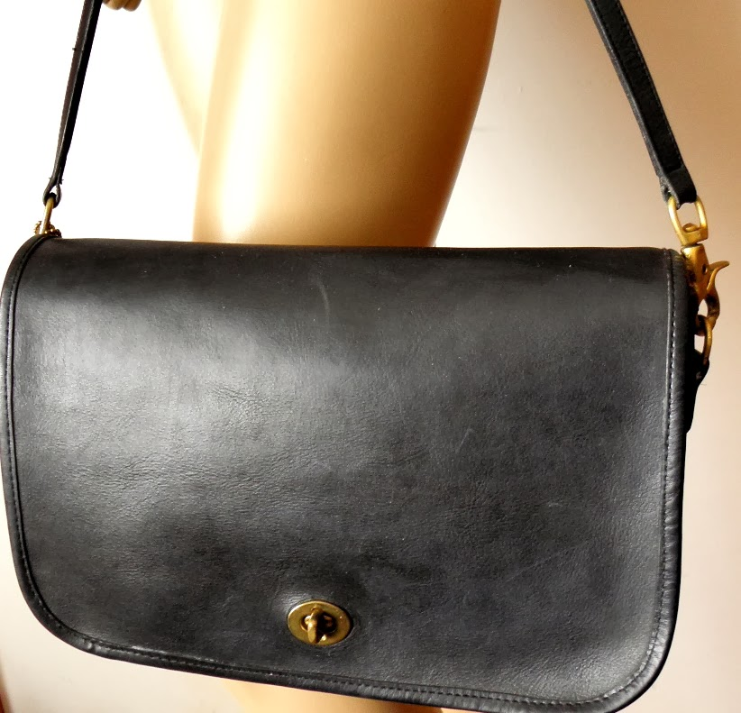 Black Leather Vintage Coach Purse