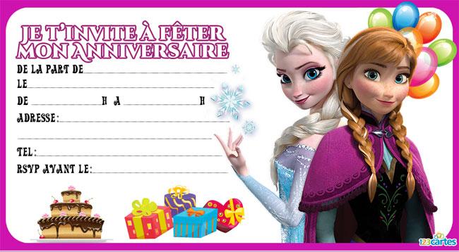 """Fabuleux Les petits rois: Cartes d'anniversaire gratuites """"La Reine des neiges"""" GQ11"""