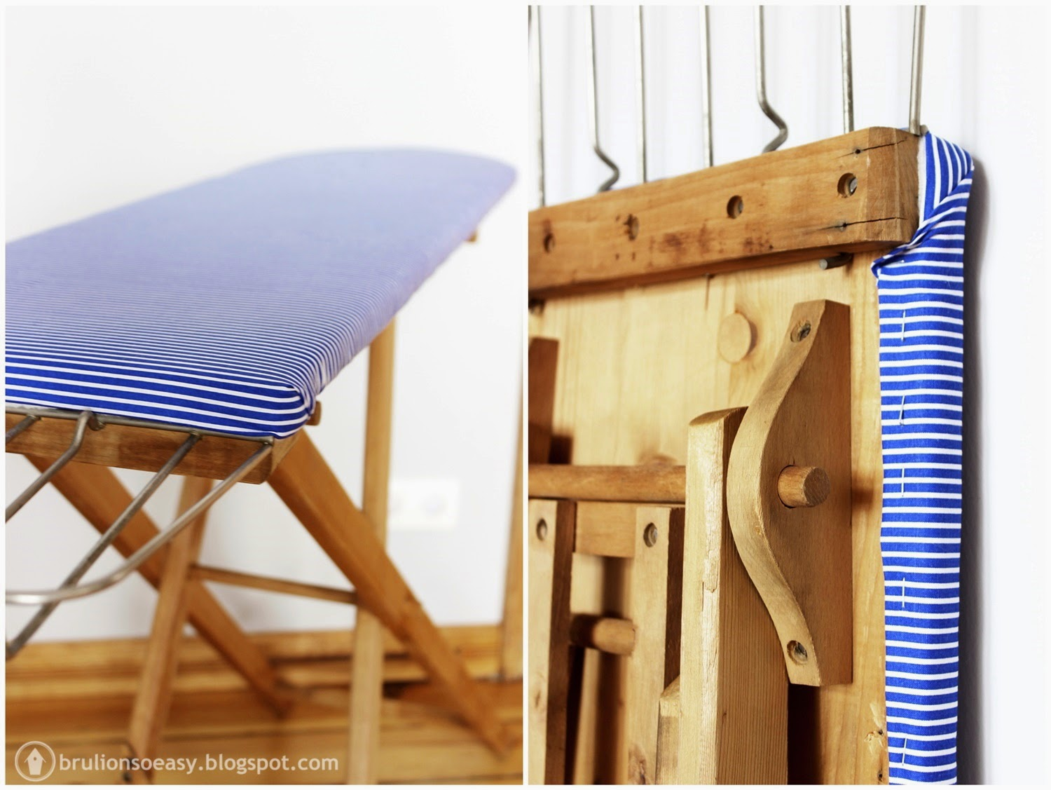 vintage wood ironing board cover diy