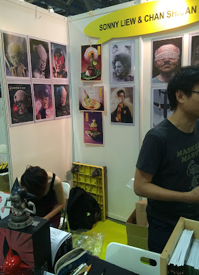 Singapore Toy, Game & Comic Convention STGCC 2015 artist alley sonny liew