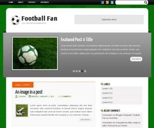 Football Fan Blogger Template