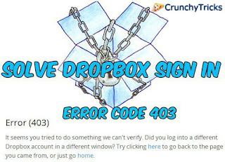 Dropbox Sign In Error Code 403