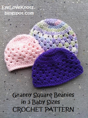 EyeLoveKnots: UPDATED! Granny Square Beanie in 3 Baby ...