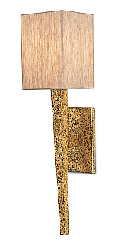 rustic gold textured modern wall sconce