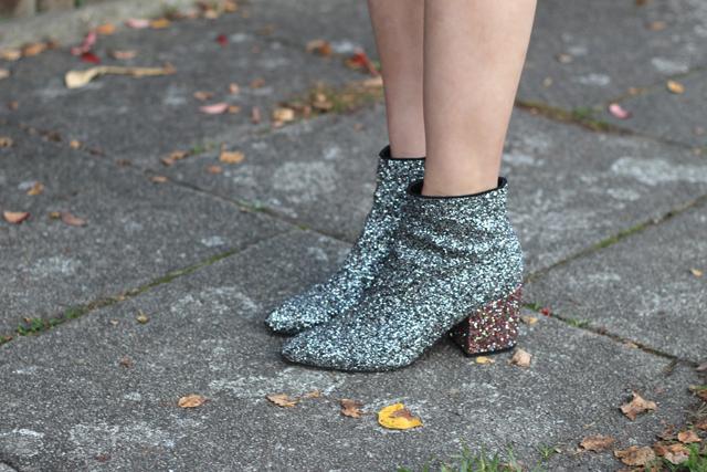 asos saint laurent glitter boots