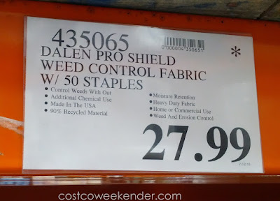 Deal for the Dalen Pro-Shield Heavy Duty Landscape Fabric at Costco
