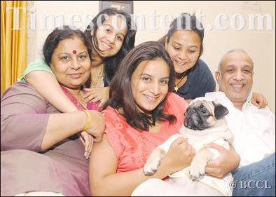Pooja Gandhi family