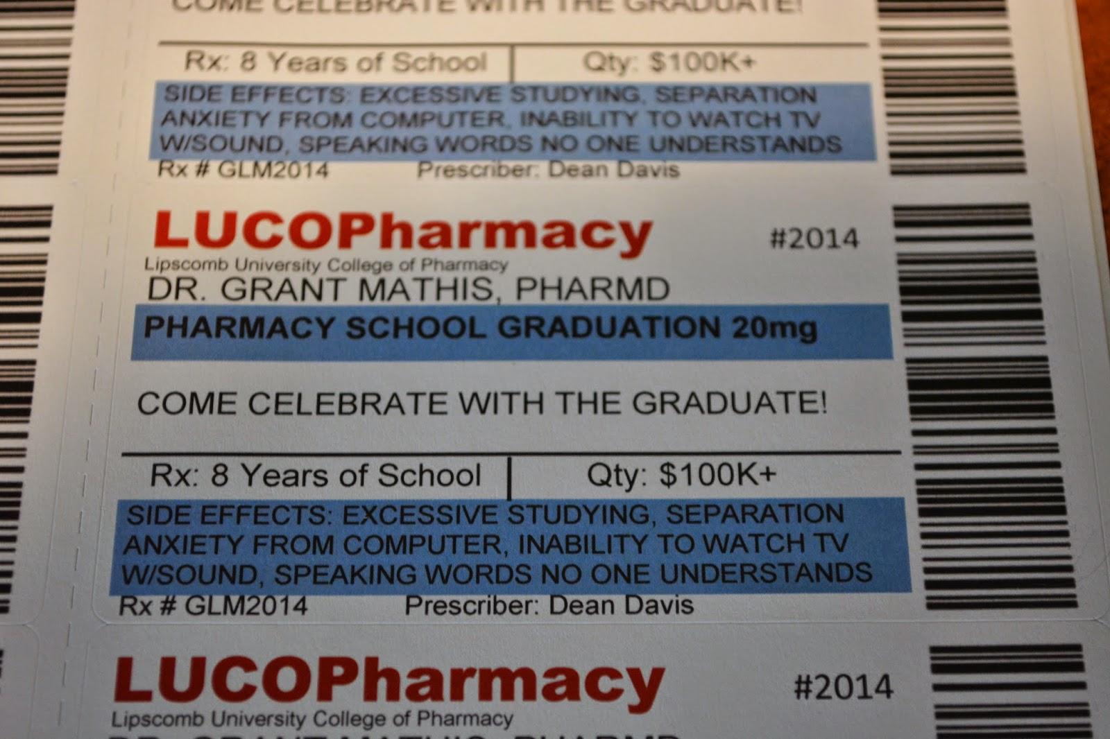 The Mathis Phamily : Grant\'s Surprise Pharmacy School Graduation Party