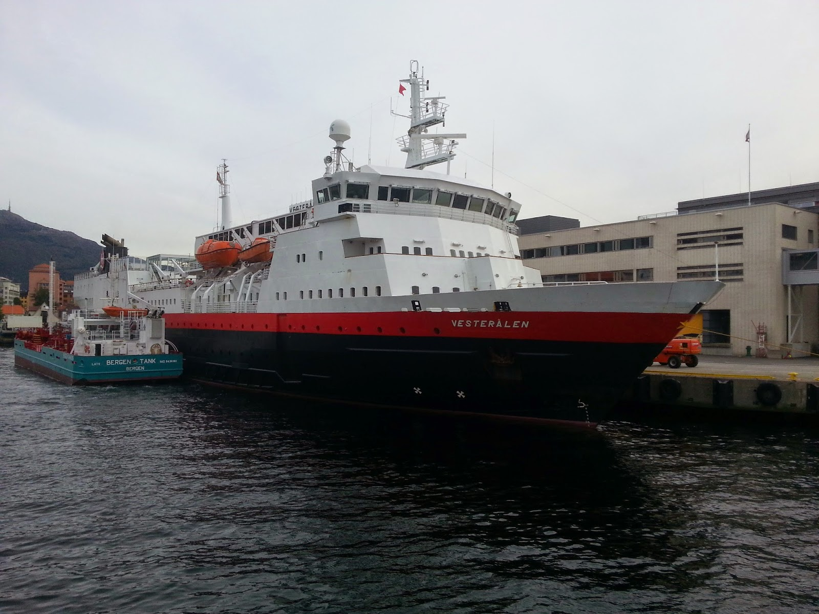 Hurtigruten MS Vesterålen in Bergen, Norway