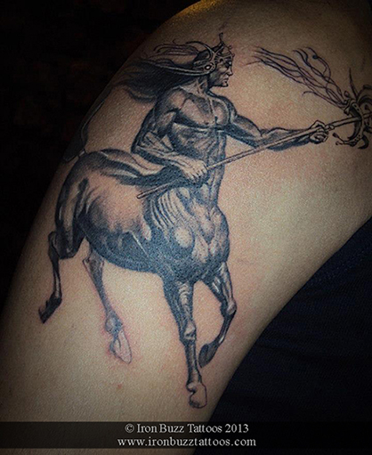 Iron Buzz Tattoos Andheri Mumbai: Sagittarius Girl Tattoos