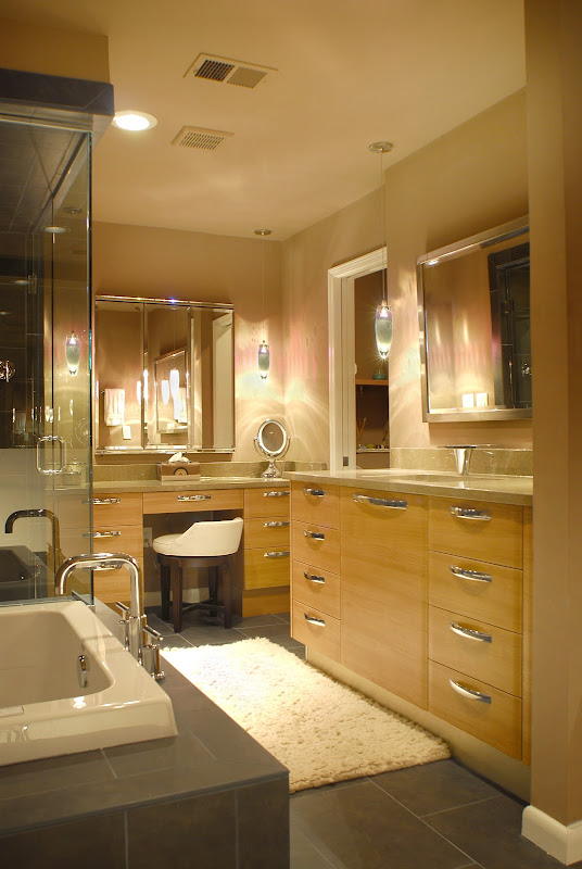 Modern Spa Master Bathroom title=