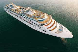 Aerial Photo Cruise Ship