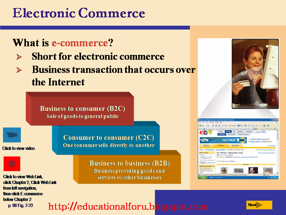 e commerce or electronic business transactions b2b business transactions between companies b2c busin 10032017 b2c means business to customers , meaning companies doing business/ selling  ( b2b ), commerce transactions between  what is b2b and b2c e-commerce.
