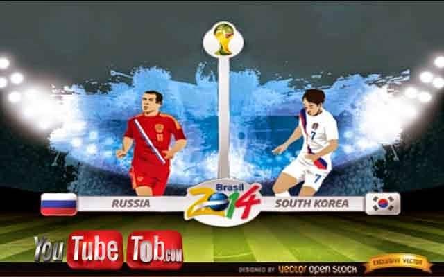 مشاهدة مباراة روسيا وكوريا الجنوبية بث مباشر اليوم 17-6-2014 كأس العالم Russia vs South Korea
