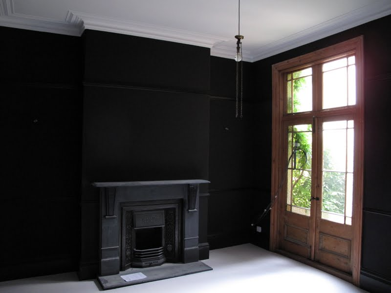 Glamorous Black Painted Wall Contemporary - Best idea home design .