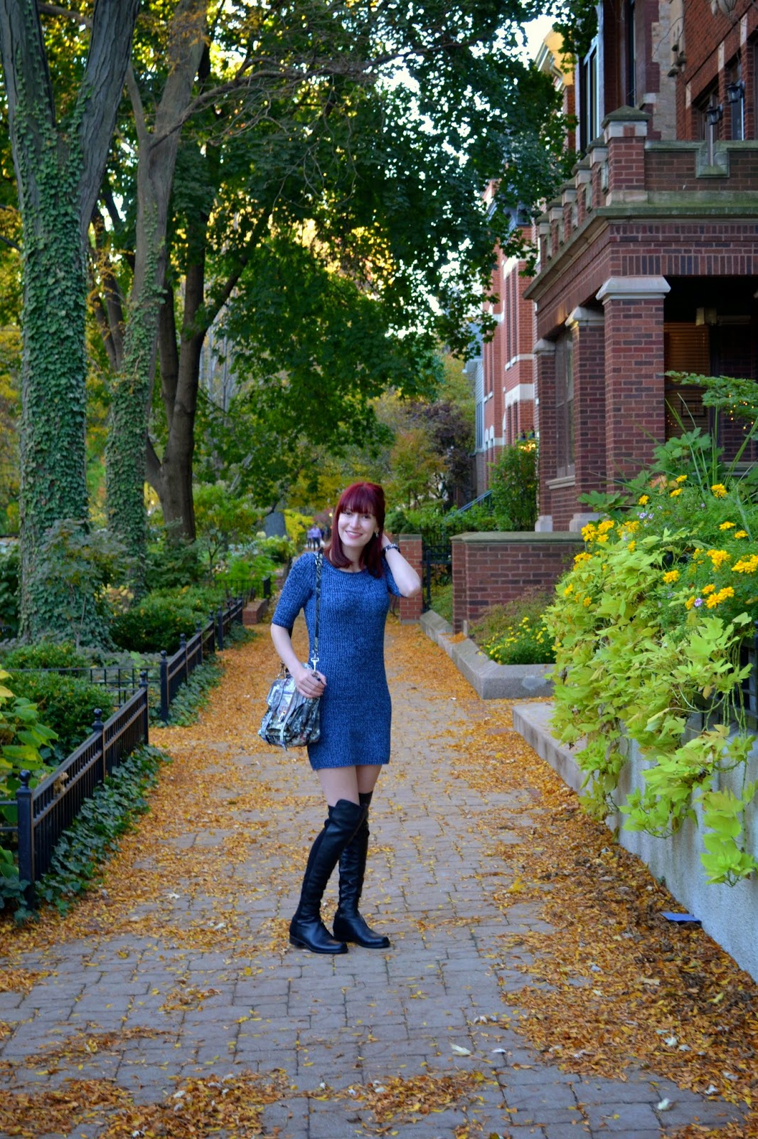 sweater dress, urban outfitters, cooperative, stuart weitzman, over the knee boots, fall fashion, proenza schouler graffiti,