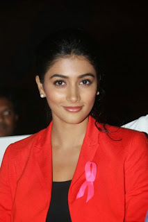 Pooja Hegde in Tight Black Dress and red Jacket Spicy Pics