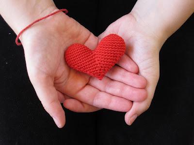 Corazón amigurumi