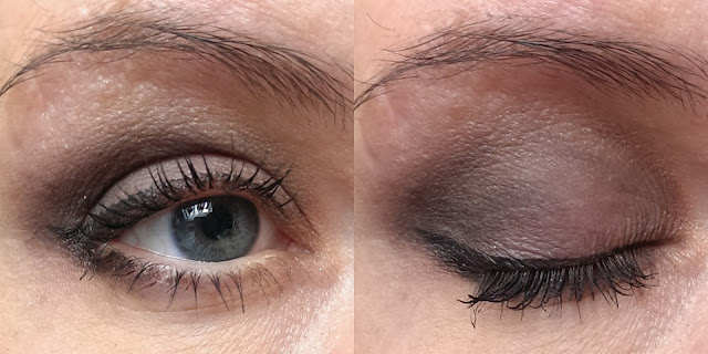 NYX Smokey palette on the eyes